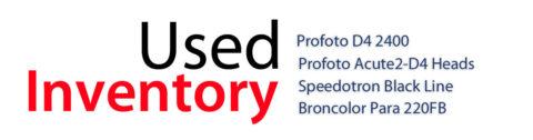Used profoto, speedotron broncolor