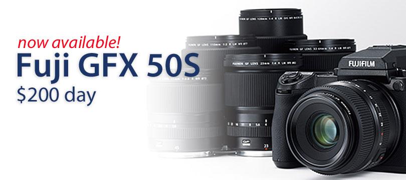 Rent a Fuji GFX50c